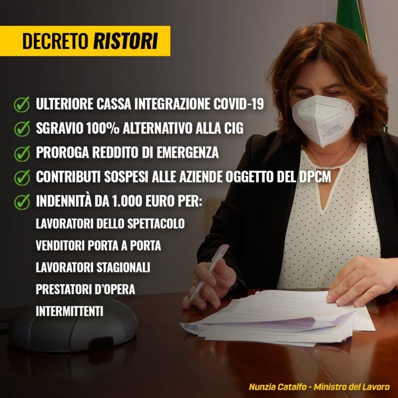 Decreto Ristori - Bonus